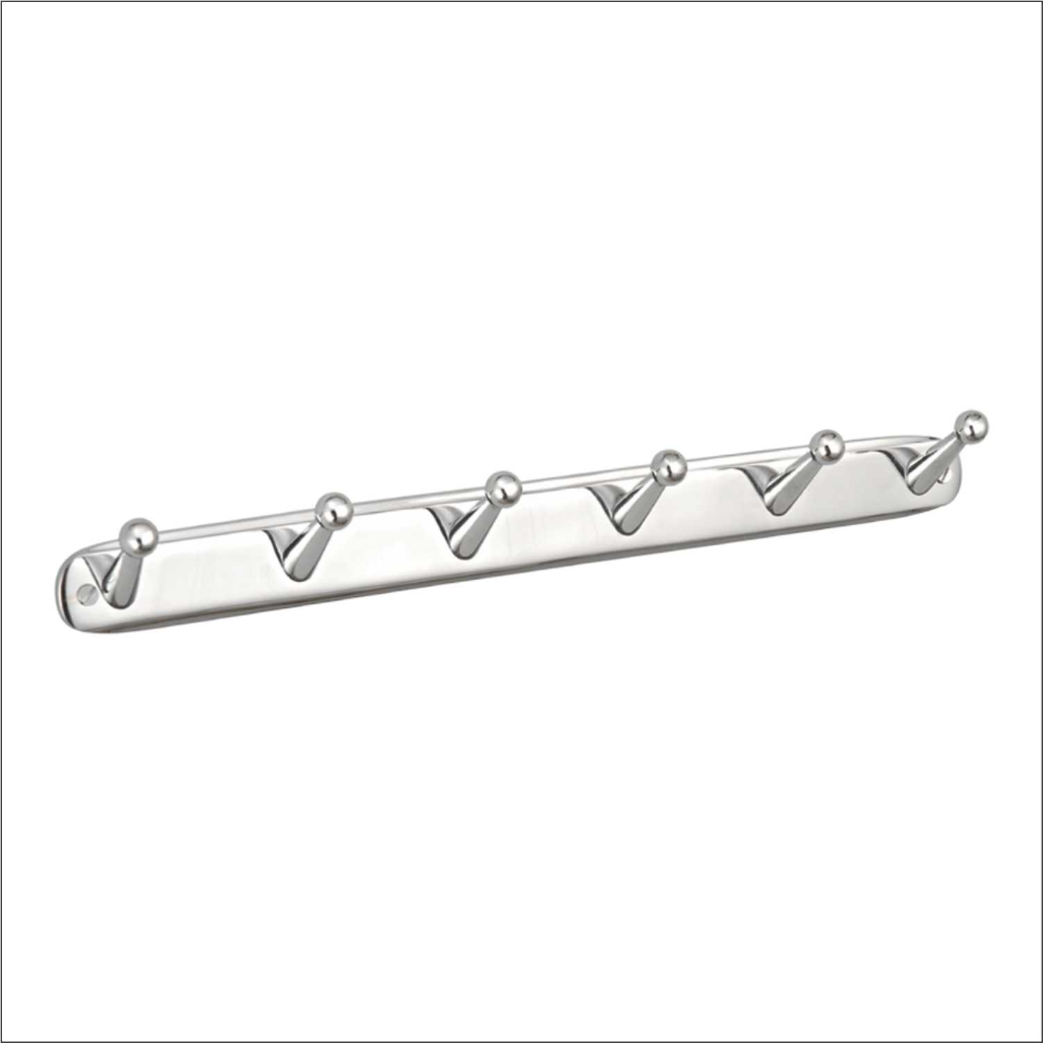 Coat Hook Straight 6 Point CP