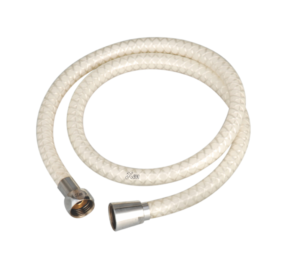 PVC Shower Tube Ivory CP
