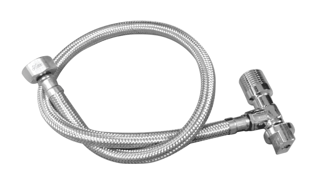 SS Braided Connection With Inbuilt Angle Valve